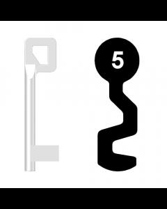 Buntbartschlüssel BASI Nr. 5 (Abbildung von der Ringseite aus gesehen)