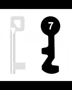 Buntbartschlüssel BASI Nr. 7 (Abbildung von der Ringseite aus gesehen)