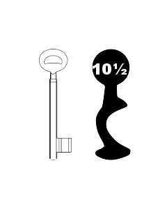 Buntbartschlüssel Bever & Klophaus System H Nr. 10 1/2