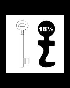 Buntbartschlüssel Bever & Klophaus System H Nr. 18 1/2
