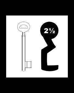 Buntbartschlüssel Bever & Klophaus System H Nr. 2½ (Abbildung von der Ringseite aus gesehen)