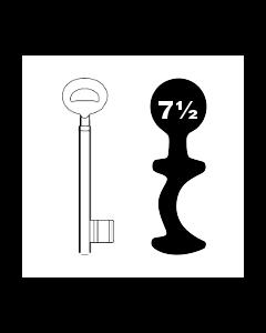 Buntbartschlüssel Bever & Klophaus System H Nr. 7½ (Abbildung von der Ringseite aus gesehen)