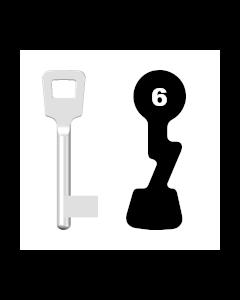Buntbartschlüssel ABUS ES BB Nr. 6
