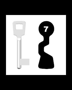 Buntbartschlüssel ABUS ES BB Nr. 7 (Abbildung von der Ringseite aus gesehen)