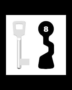Buntbartschlüssel ABUS ES BB Nr. 8 (Abbildung von der Ringseite aus gesehen)