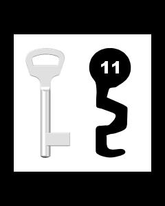 Buntbartschlüssel BKS Nr. 11 (Abbildung von der Ringseite aus gesehen)