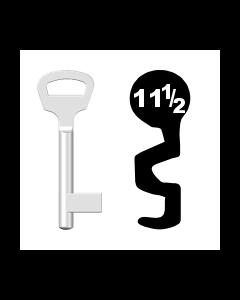 Buntbartschlüssel BKS Nr. 11½ (Abbildung von der Ringseite aus gesehen)