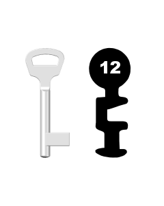 Buntbartschlüssel BKS Nr. 12