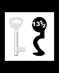 Buntbartschlüssel BKS Nr. 13½ (Abbildung von der Ringseite aus gesehen)