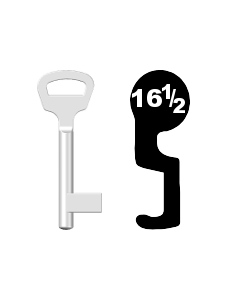 Buntbartschlüssel BKS Nr. 16½ (Abbildung von der Ringseite aus gesehen)