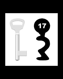 Buntbartschlüssel BKS Nr. 17 (Abbildung von der Ringseite aus gesehen)
