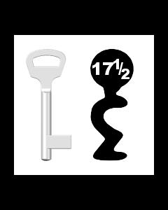 Buntbartschlüssel BKS Nr. 17½ (Abbildung von der Ringseite aus gesehen)