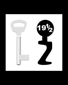 Buntbartschlüssel BKS Nr. 19½ (Abbildung von der Ringseite aus gesehen)