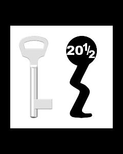 Buntbartschlüssel BKS Nr. 20½ (Abbildung von der Ringseite aus gesehen)