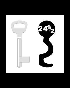 Buntbartschlüssel BKS Nr. 24½ (Abbildung von der Ringseite aus gesehen)