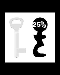 Buntbartschlüssel BKS Nr. 25½ (Abbildung von der Ringseite aus gesehen)