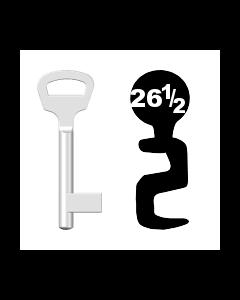 Buntbartschlüssel BKS Nr. 26½ (Abbildung von der Ringseite aus gesehen)