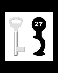 Buntbartschlüssel BKS Nr. 27 (Abbildung von der Ringseite aus gesehen)