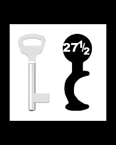 Buntbartschlüssel BKS Nr. 27½ (Abbildung von der Ringseite aus gesehen)