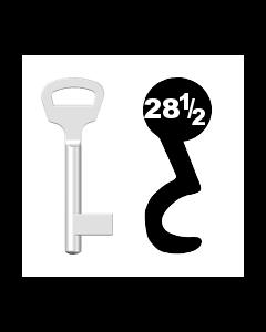 Buntbartschlüssel BKS Nr. 28½ (Abbildung von der Ringseite aus gesehen)