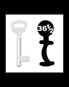 Buntbartschlüssel BKS Nr. 36½ (Abbildung von der Ringseite aus gesehen)