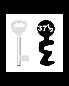 Buntbartschlüssel BKS Nr. 37½ (Abbildung von der Ringseite aus gesehen)