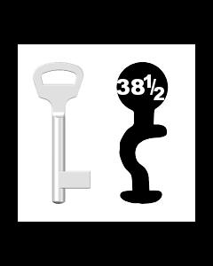 Buntbartschlüssel BKS Nr. 38½ (Abbildung von der Ringseite aus gesehen)
