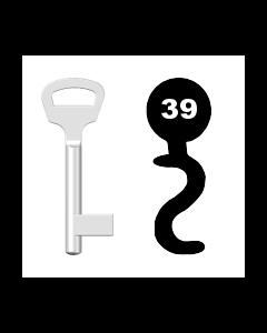 Buntbartschlüssel BKS Nr. 39 (Abbildung von der Ringseite aus gesehen)