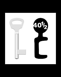 Buntbartschlüssel BKS Nr. 40½ (Abbildung von der Ringseite aus gesehen)