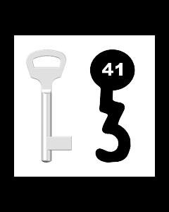 Buntbartschlüssel BKS Nr. 41 (Abbildung von der Ringseite aus gesehen)