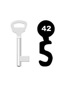 Buntbartschlüssel BKS Nr. 42