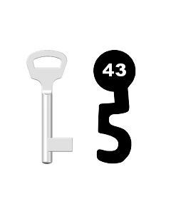 Buntbartschlüssel BKS Nr. 43