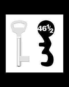 Buntbartschlüssel BKS Nr. 46½ (Abbildung von der Ringseite aus gesehen)