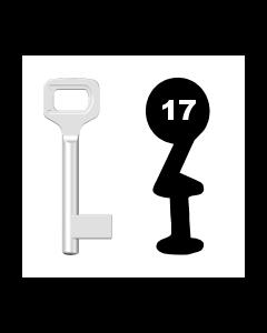 Buntbartschlüssel Dörrenhaus Nr. 17 (Abbildung von der Ringseite aus gesehen)