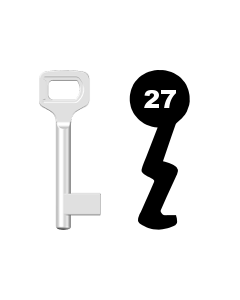 Buntbartschlüssel Dörrenhaus Nr. 27 (Abbildung von der Ringseite aus gesehen)