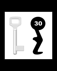 Buntbartschlüssel Dörrenhaus Nr. 30 (Abbildung von der Ringseite aus gesehen)