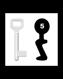Buntbartschlüssel Dörrenhaus Nr. 5 (Abbildung von der Ringseite aus gesehen)
