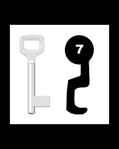 Buntbartschlüssel Dörrenhaus Nr. 7 (Abbildung von der Ringseite aus gesehen)