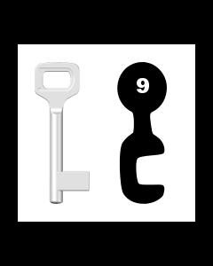 Buntbartschlüssel Dörrenhaus Nr. 9