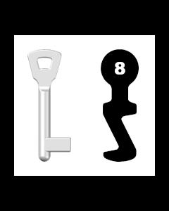 Buntbartschlüssel E8