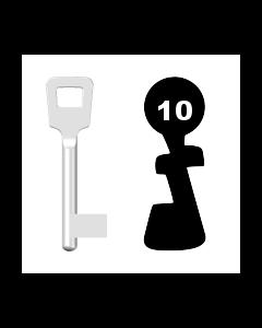 Buntbartschlüssel ABUS ES BB Nr. 10 (Abbildung von der Ringseite aus gesehen)