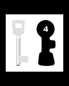 Buntbartschlüssel ABUS ES BB Nr. 4 (Abbildung von der Ringseite aus gesehen)