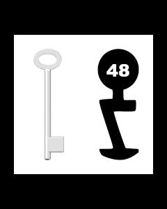 Buntbartschlüssel für Kastenschloss Nr. 48