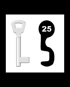 Buntbartschlüssel KIMA Nr. 25 (Abbildung von der Ringseite aus gesehen)