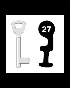 Buntbartschlüssel KIMA Nr. 27 (Abbildung von der Ringseite aus gesehen)