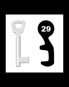 Buntbartschlüssel KIMA Nr. 29 (Abbildung von der Ringseite aus gesehen)