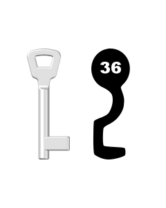 Buntbartschlüssel KIMA Nr. 36