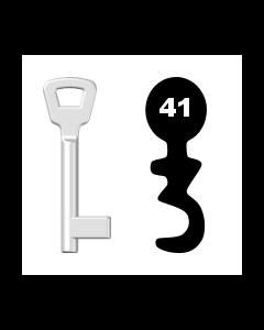 Buntbartschlüssel KIMA Nr. 41 (Abbildung von der Ringseite aus gesehen)