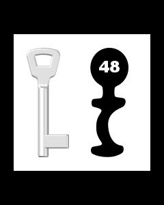 Buntbartschlüssel KIMA Nr. 48 (Abbildung von der Ringseite aus gesehen)