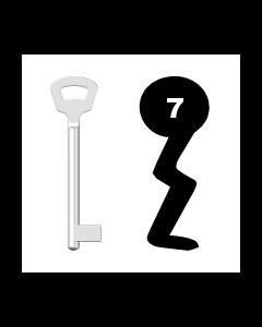 Buntbartschlüssel Nemef Nr. 7 lang